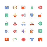 Shopping Colored Vector Icons 3 Stock Photo