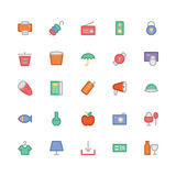Shopping Colored Vector Icons 10 Stock Image