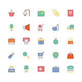 Shopping Colored Vector Icons 6 Royalty Free Stock Photo