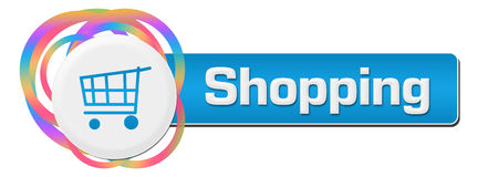 Shopping Colorful Rings Horizontal Stock Photography
