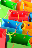 Shopping colorful sale paper bags close-up royalty free stock photo
