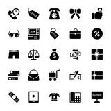 Shopping and Commerce Glyph Vector Icons 4. This Shopping and Commerce glyph Vector Icons pack is stocked full of great new, extremely useful icons that would be Royalty Free Stock Image