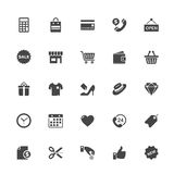 Shopping and Commerce Icon on Whit Background Royalty Free Stock Image