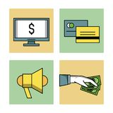 Shopping and commerce icons set. Icon vector illustration graphic design Royalty Free Stock Photography