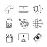 Shopping and commerce icons set. Icon vector illustration graphic design Royalty Free Stock Photos