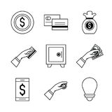 Shopping and commerce icons set. Icon vector illustration graphic design Stock Image