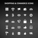 Shopping and Commerce Icons. For web design and application interface, also useful for infographics. Vector illustration Royalty Free Stock Photo
