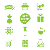 Shopping, commercial icon vector illustration Royalty Free Stock Photos
