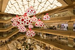 Shopping Complex Ginza Six in Tokyo, Japan. The inside of the new Ginza Six commercial complex in Tokyo`s Ginza shopping district in Tokyo, Japan Royalty Free Stock Image