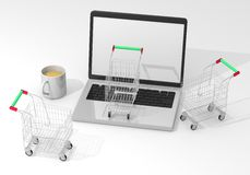 Shopping in computer Stock Images