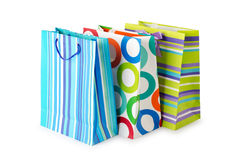 Shopping concept - bag on white Stock Image