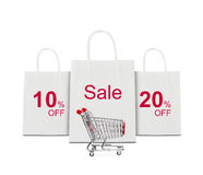 Shopping concept with cart Royalty Free Stock Image