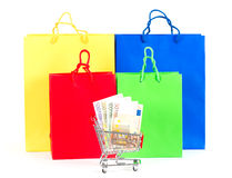 Shopping concept. Colorful bags Stock Photography