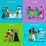 Shopping Concept Icons Set Royalty Free Stock Photography
