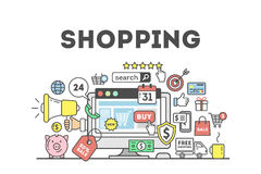 Shopping concept illustration. Royalty Free Stock Image