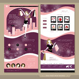 Shopping concept one page website template design Royalty Free Stock Images