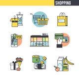 Shopping concept set Stock Photos