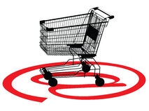 Shopping concept with a trolley Royalty Free Stock Photography