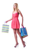 Shopping concept with woman Stock Photos