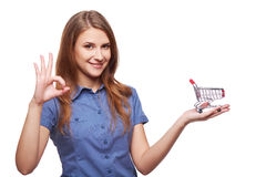 Shopping concept woman Royalty Free Stock Photography