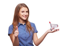 Shopping concept woman Stock Image