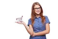 Shopping concept woman Royalty Free Stock Image