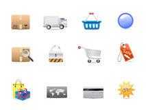 Shopping consumerism icon set Royalty Free Stock Image