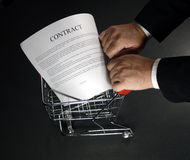 Shopping a contract around 2 Royalty Free Stock Photography