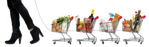 Shopping Convoy Royalty Free Stock Photography