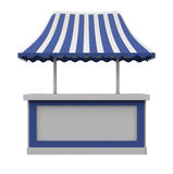 Shopping Counter With Canopy Royalty Free Stock Photos