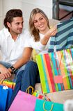 Shopping couple Stock Photos