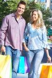 Shopping couple Royalty Free Stock Image