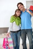 Shopping couple Royalty Free Stock Photos