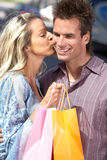 Shopping couple Royalty Free Stock Photo