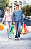 Shopping couple Stock Image