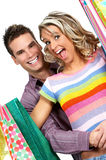 Shopping couple stock images