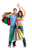 Shopping couple Stock Photography