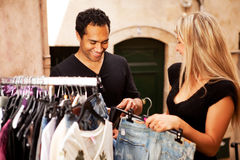 Shopping Couple Europe Stock Photography