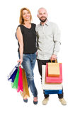 Shopping couple stock photo