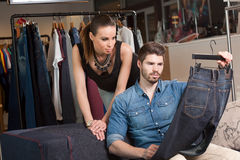 Shopping couple. Royalty Free Stock Image
