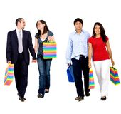 Shopping couples Royalty Free Stock Image