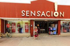 Shopping In Cozumel, Mexico Stock Photo