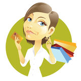 Shopping with credit card Royalty Free Stock Photography