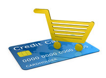 Shopping with a credit card Royalty Free Stock Photography