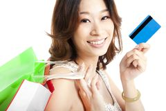 Shopping  and credit card Stock Photo