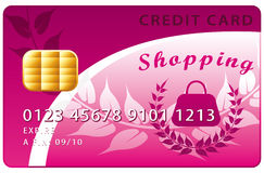 Shopping credit card Royalty Free Stock Photos