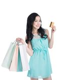 Shopping with credit card Stock Image