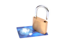 Shopping with Credit Card safety measures Stock Photography