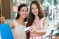 Shopping with credit card Royalty Free Stock Image