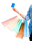 Shopping with a credit card Stock Photography